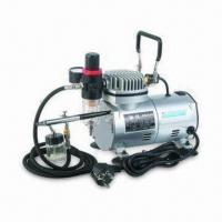 Low-noise Airbrush Compressor for Cosmetic Use, 1/8-inch BSP/NPT Connection, CE-certified Manufactures