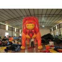 Commercial Cartoon Inflatable Advertising Signs digital painting Giant Inflatable Lion for exhibition Manufactures