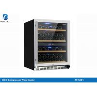 China Stainless Steel Dual Temperature Wine Fridge , Small Dual Zone Wine Refrigerator SF-54D1 on sale