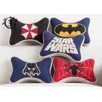 China Marvel Heros Polyester Car Neck Pillows , Zipper Silk Cotton Dog Bone Cushion on sale