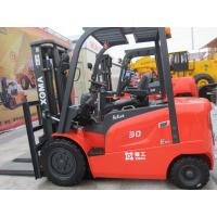 3Ton 80V/500Ah AC Battery Powered Forklift Small Diameter Steering Wheel Manufactures