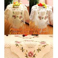China lace table cloth for wedding cutout, Tablemat, Corcheted Lace Table linen, Tablecloth on sale