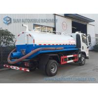 China FAC 4*2 2m3 Water Tanker Truck Sewage Suction Tanker Truck With Vacuum Pump on sale