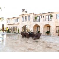 Crosscut  Filled Outdoor Travertine Patio Tile , Tumbled Travertine Floor Tiles Manufactures