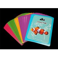 Customized Printing Alphabets Flash Cards / Learning Cards for Toddlers Manufactures