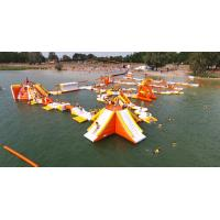 France Inflatable Aqua Park Games With TUV Certification For Lake Manufactures