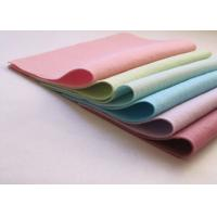 Pink Green Non Woven Polyester Felt Fabric Sheets Needle Punched Technics Manufactures