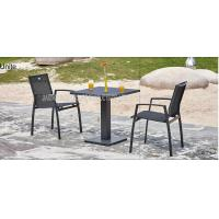 Outdoor Metal Wicker Bistro Table And Chairs , Aluminum Bistro Set Manufactures
