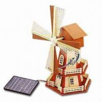 Solar Educational Plastic Windmill Kit for All Ages, Ideal for Decoration Manufactures