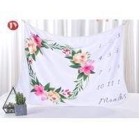 Cute Baby Warm Baby Blanket Milestone Newborn To 12 Months Lovely Soft Polyester 39x39 Inches Manufactures