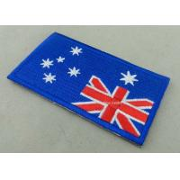 Heat Cut Custom Embroidered Badges , Professional Garment Accessories Custom Clothing Patches Manufactures