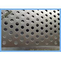 Powder Coated Perforated Metal Sheet Staggered Round Punched Customized Length Manufactures