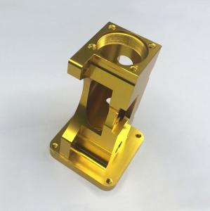Golden Anodized 6061 Aluminum Machining Service , Motor CNC Milling Parts Manufactures