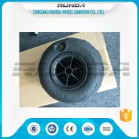 Quality No Axle Pneumatic Wheelbarrow Wheels Puncture Resistant PVC 230mm*115mm for sale