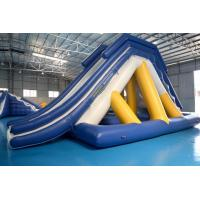 Floating Inflatable Water Slide With Big Stainless Steel Anchor Ring Manufactures