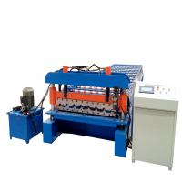 Aluzinc PPGI  Roofing Sheet Roll Forming Machine With Siemens Motor Manufactures