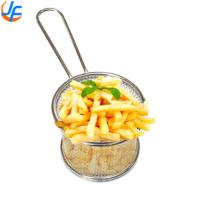 Fat Fryer Stainless Steel Mini Deep Fry Serving Basket For French Fries Manufactures