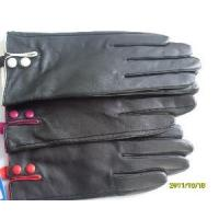 Buy cheap Lady′s Leather Gloves with Two Buttons in Cuff (BL1012) from wholesalers