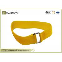 China Colored  Mental Buckle Hook Loop Strap , Reusable Cable Tie For Self-Locking on sale