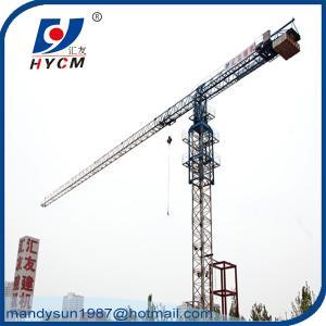 QTP5210 Flattop Tower Crane 5 ton 52m Jib Topless Construction Tower Crane Manufactures
