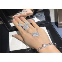 China High End 18K Gold Diamond Jewelry , Piaget Rose Pendant Ring / Bangle / Earrings on sale