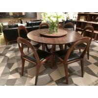 Quality Nordic style Living room Furniture Walnut Wooden Circular Dining table in for sale
