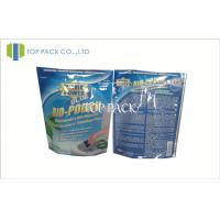 Blue Printed Foil Stand Up Pouches With Ziplock , Heat Seal Foil Bags Manufactures