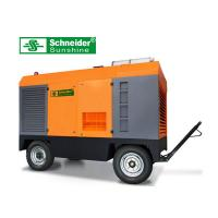 High Efficiency Portable Screw Air Compressor , 46KW Mobile Diesel Air Compressor Manufactures