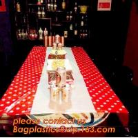 Colorful Polka Dot Table Cloth Plastic Tablecloth Cover for Wedding Birthday Party Supplies/Decoration BAGEASE BAGPLASTI Manufactures