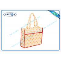 Quality full color laminated pp non woven promotional eco shopping bag for packing for sale