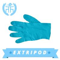 Latex free blue synthetic nitrile examination gloves Manufactures