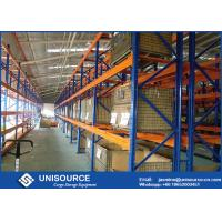 Commercial Heavy Duty Pallet Shelving Powder Coated With Wire Mesh Cage Manufactures