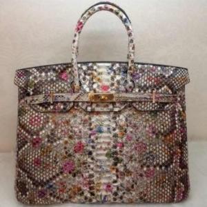 Hermes Python Leather Birkin 35CM Flower GHW Manufactures