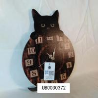 Cat Wall Clock Vintage High Quality Retro Wall Clock Large Animal Wall Clock for Living Room Manufactures