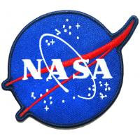 Sew On Custom Woven Badges Merrow Border Embroidery Nasa Badge Manufactures