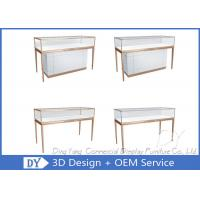 Matte White Wooden Glass Display Cases For Jewelry And Watch Store Manufactures