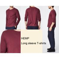 China Eco Friendly Round Neck Hemp Cotton Clothing Long Sleeve Blank Design on sale