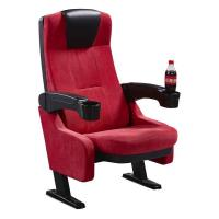 Cup Holder Luxury Cinema Theater Chairs With Flame Retardant Fabric Manufactures