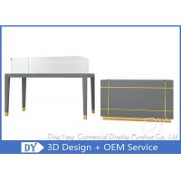 OEM Gray Jewelry Showcase Display With Wooden + Glass + Led Lights Manufactures
