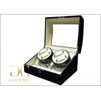Ebony Wood Automatic Watch Winders Box Ivory PU With Tempering glass Manufactures