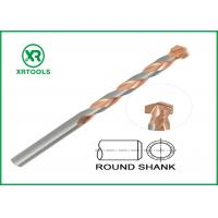 Round Shank Metric Masonry Drill Bits Copper Plated L Flute For Concrete Brick Manufactures