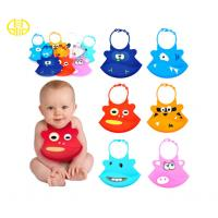 Quality Personalized Silicone Baby Products , waterproof Kids Silicone Bibs with pocket for sale