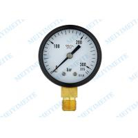 2 Movement brass connection general pressure gauge for  Air , oil , gas and water Manufactures