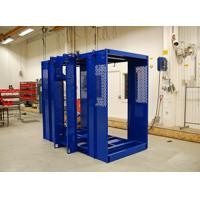 Blue Durable Building Material Hoist / Construction Site Elevator High Reliability Manufactures