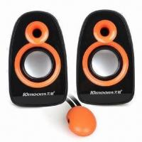 USB 2.0 Mini Speakers for Laptop, with 3W x 2 Output Power Manufactures