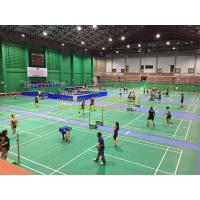 China BWF safety vinyl pvc sports rolled flooring used in basketball court/Outdoor PVC material sport flooring for badmin on sale