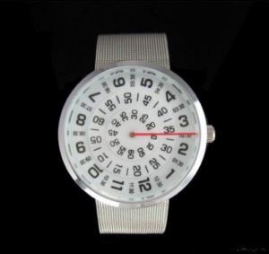 Mens Three Circle Stainless Quartz Wrist Watch Manufactures