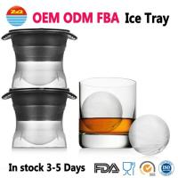 China Round Sphere Ice ball Cube Maker Silicone Tray Silicon Whiskey Mold For Drinks With Lid Great for Parties and all Cold Beverages on sale