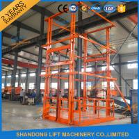 5T 6m Warehouse Hydraulic Guide Rail Freight Lift Elevator Vertical Goods Lift With CE TUV Manufactures