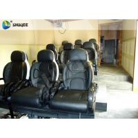 Black Luxury Seats 7d Simulator Cinema Motion Chair In Genuine Leather Material Manufactures